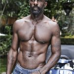 Idris Elba Arms and Chest Tattoo