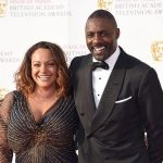 Idris Elba with his ex-girlfriend