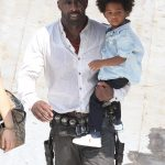 Idris Elba with his son