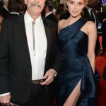 Amber Heard with her father
