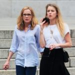 Amber Heard with her mother