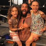 Jason Momoa with his children
