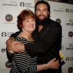 Jason Momoa with his mother
