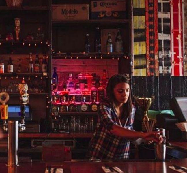 Alexandria Ocasio-Cortez As A Bartender