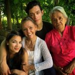 Alexandria Ocasio-Cortez With Her Mother, Brother, And Grandmother