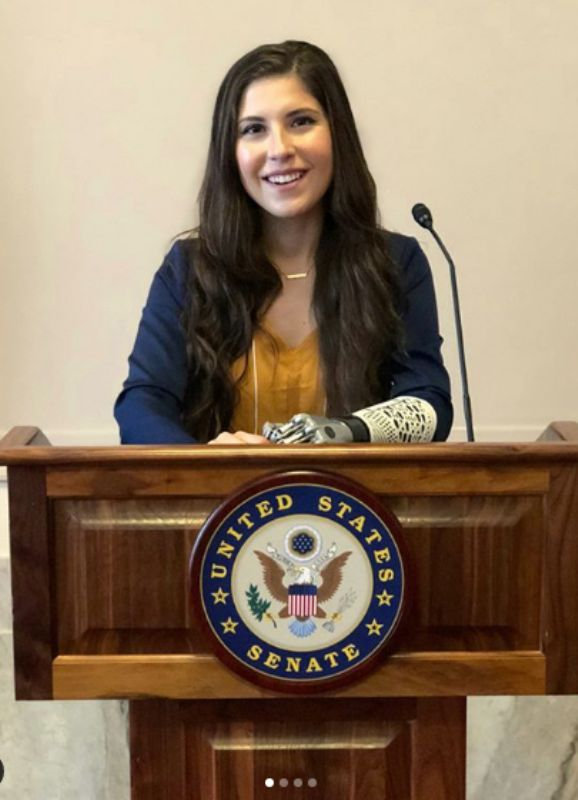Angel Giuffria At A Meeting With Senators