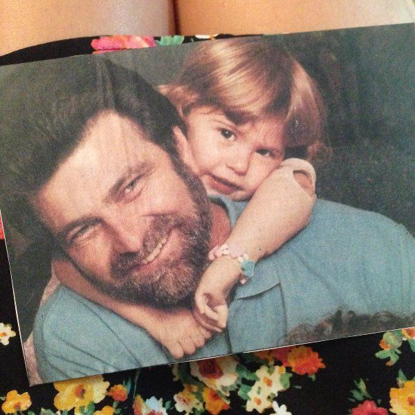 Angel Giuffria With Her Father in Her Childhood