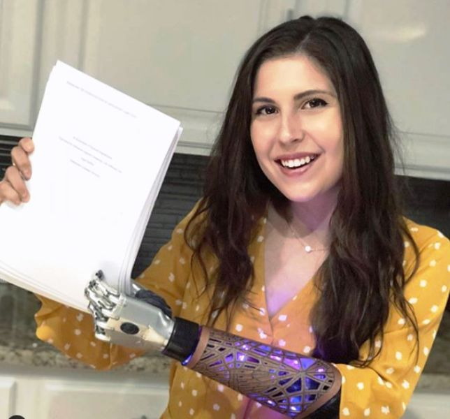 Angel Giuffria With Her Thesis