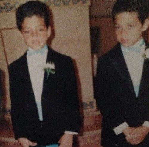 Childhood photograph of Rami and his brother