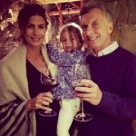 Juliana Awada with her husband and daughter