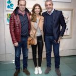 Juliana Awada with her brothers, Alejandro and Daniel