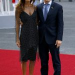 Juliana Awada with her husband