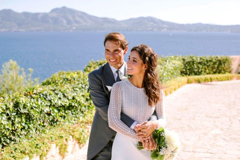 Xisca Perello with Rafael Nadal after getting married