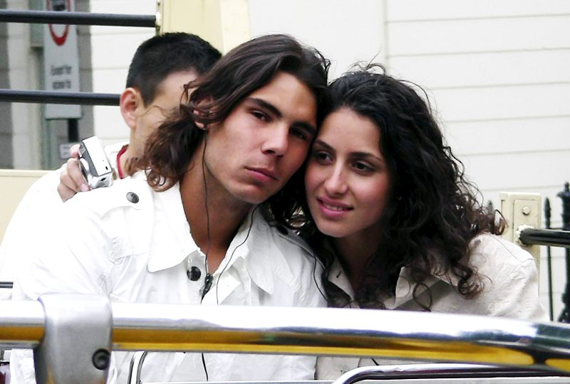 Xisca Perello with Rafael Nadal in her younger days