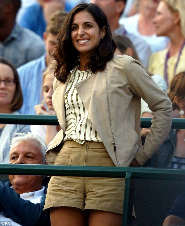 Xisca Perello at one of Nadal's matches