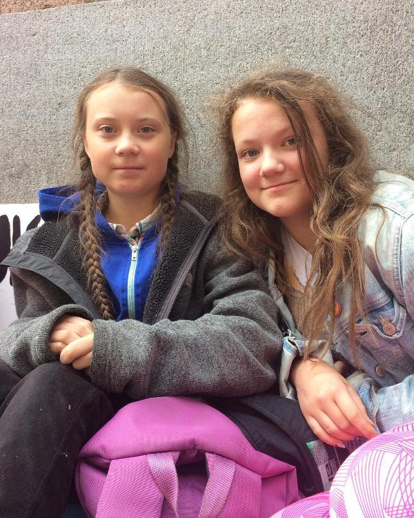 Greta Thunberg With Her Sister Beata