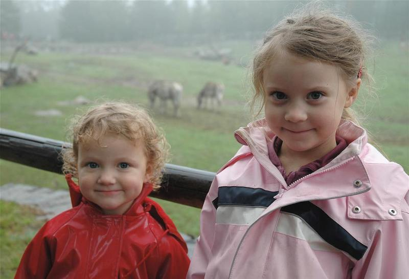 Greta Thunberg With Her Younger Sister Beata
