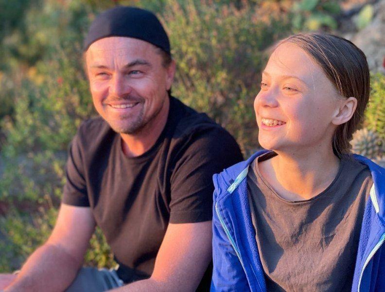 Leonardo DiCaprio with Greta Thunberg