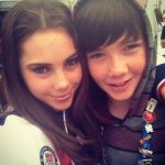 McKayla Maroney with her brother