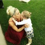 Michelle McCool with her daughter