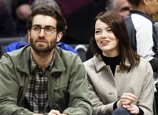 Emma Stone with her boyfriend, Dave McCary