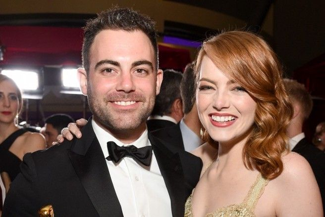 Emma Stone with her brother