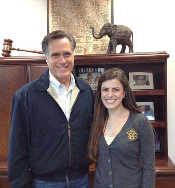 Madeleine Westerhout With Mitt Romney