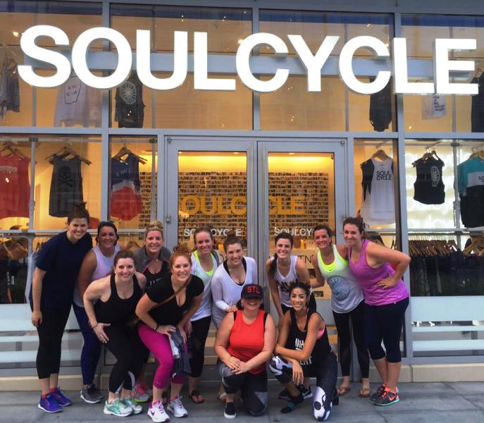 Madeleine Westerhout With The Group of SoulCycle