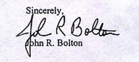 John Bolton Signature