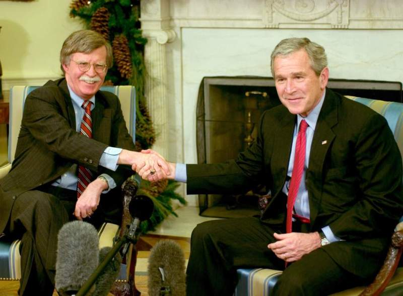 John Bolton With George W Bush