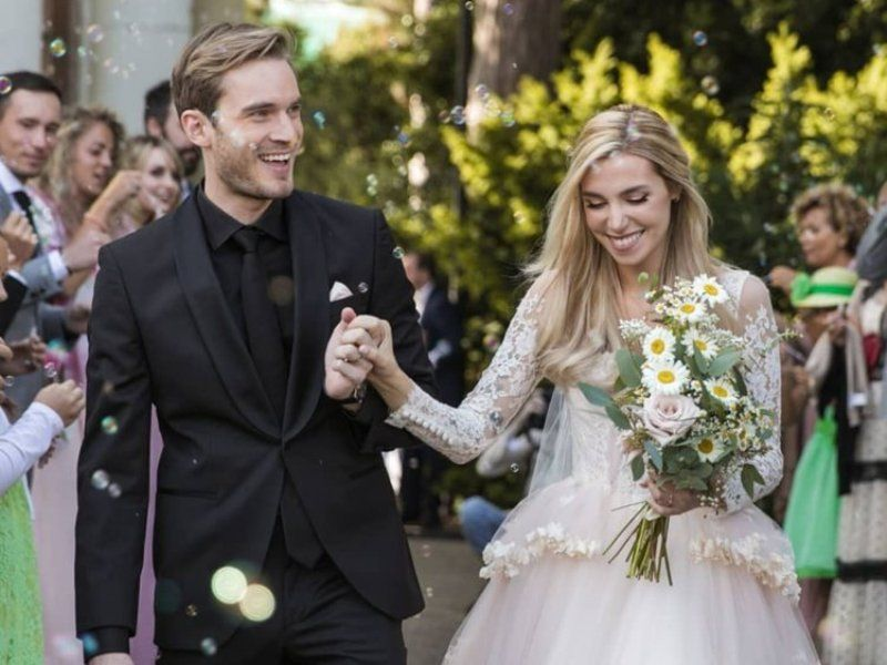 PewDiePie Wedding Picture