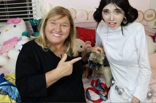 Eugenia Cooney with her Mother
