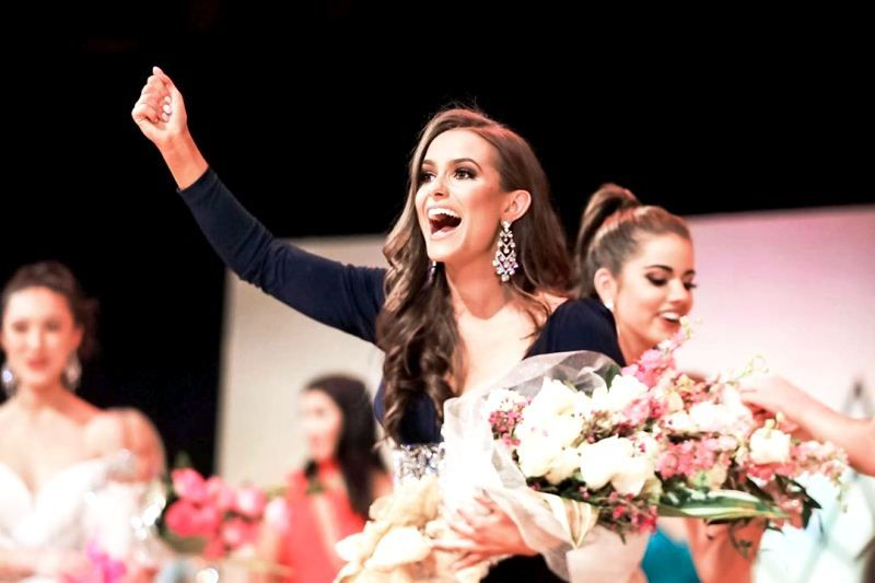 Camille Schrier after being named Miss Dominion