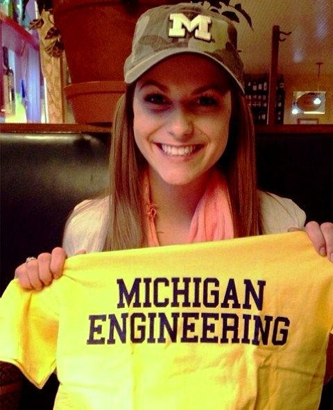 Camille Schrier during her time in Michigan Engineering