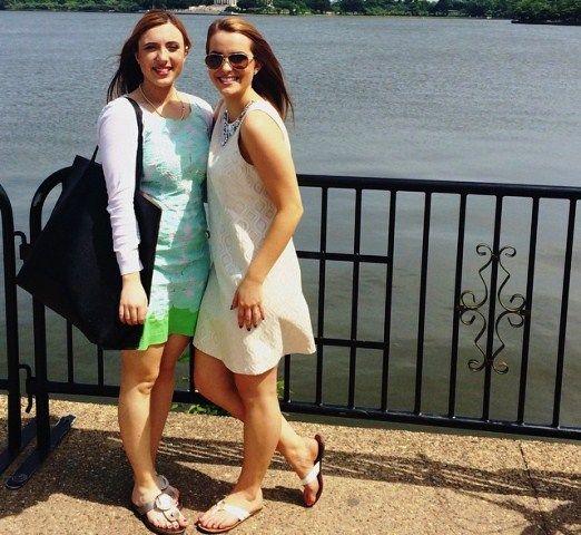 Camille Schrier with her elder sister Megan Roessler