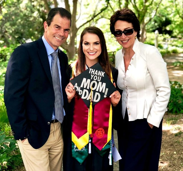 Camille Schrier with her mother Cheryl Schrier and her father Tom Schrier