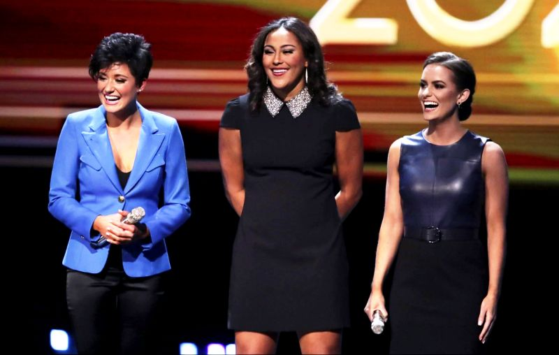 Top 3 Finalists for Miss America 2020- Miss Virginia- Camille Schrier (right), Miss Missouri- Simone Esters (center), and Miss Georgia- Victoria Hill (left)