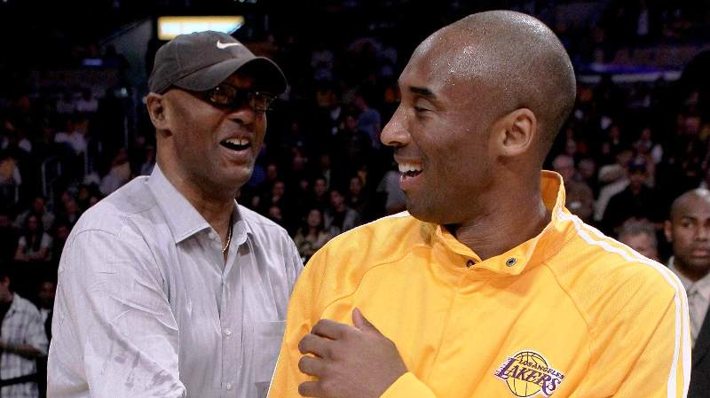 Kobe Bryant With His Father Joe Bryant