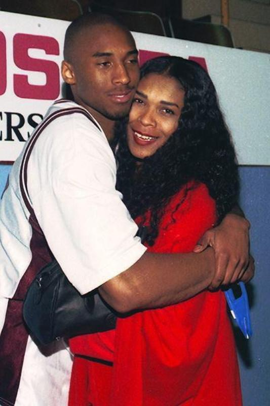 Kobe Bryant With His Mother Pamela Cox Bryant