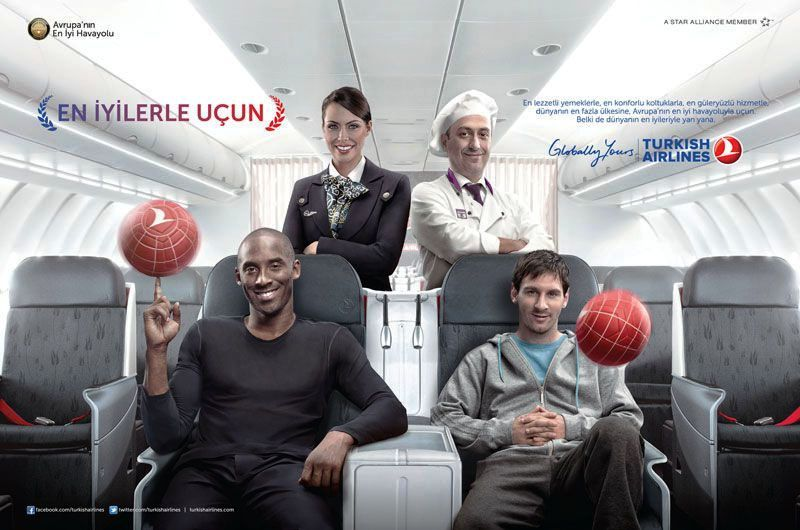 Kobe Bryant and Messi in Turkish Airlines Commercial