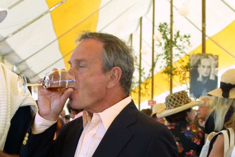 Michael Bloomberg Consuming Alcohol