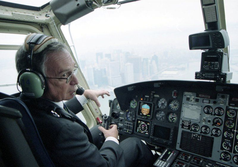 Michael Bloomberg Flying his Helicopter