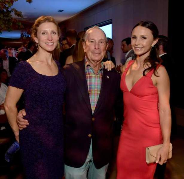 Michael Bloomberg With His Daughters Emma (left) and Georgina (right)