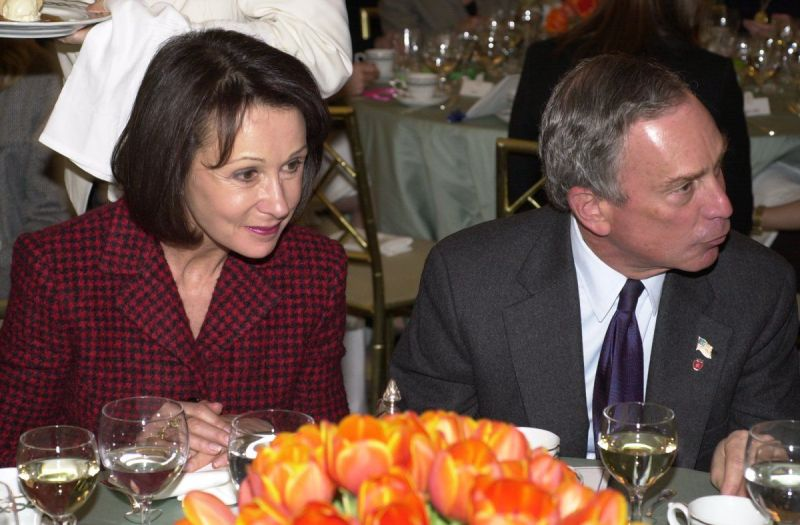 Michael Bloomberg With His Ex-Wife Susan Brown