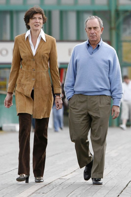 Michael Bloomberg With His Girlfriend Diana Taylor