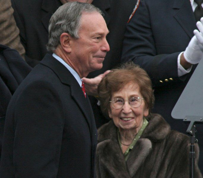 Michael Bloomberg With His Mother Charlotte Bloomberg
