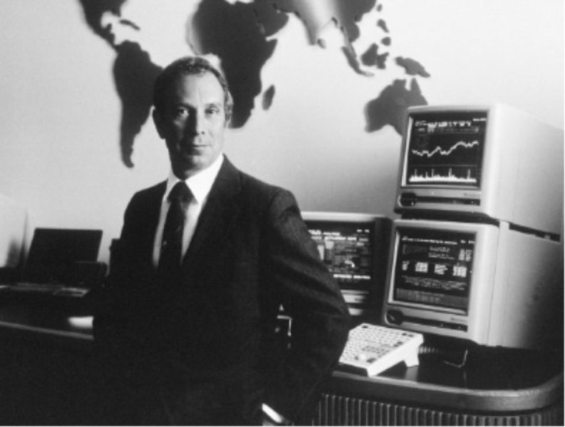 Michael Bloomberg in His Office