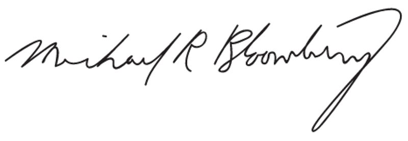 Michael R Bloomberg Signature