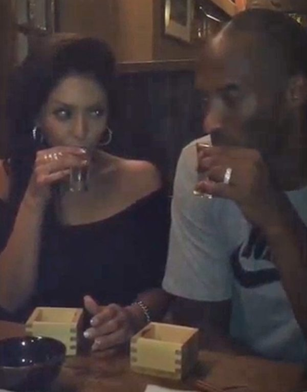 Vanessa Laine Bryant enjoying a party with her husband Kobe Bryant
