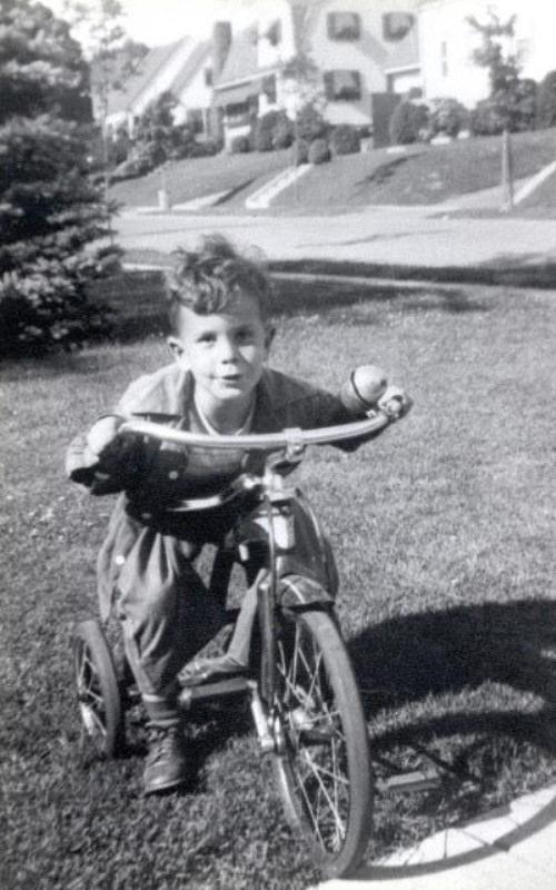 Young Mike grew up in the Boston suburb of Medford